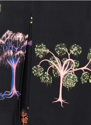 Detail View - Click To Enlarge - Stella McCartney - Psychedelic tree print pleat front dress