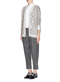 STELLA MCCARTNEY Leopard sustainable mohair-wool oversized cardigan