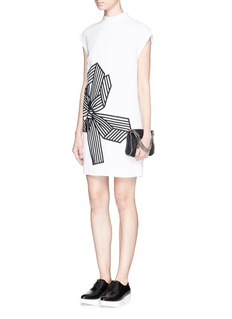 STELLA MCCARTNEY 'Deborah' bow embroidery cady dress