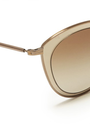 Detail View - Click To Enlarge - Oliver Peoples - 'Gwynne' acetate inlay cat eye sunglasses