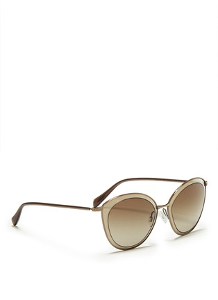 Figure View - Click To Enlarge - Oliver Peoples - 'Gwynne' acetate inlay cat eye sunglasses