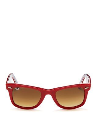 Main View - Click To Enlarge - Ray-Ban - 'Original Wayfarer' patchwork print sunglasses