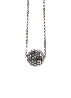LC COLLECTION JEWELLERY Diamond 18k gold disco ball pendant necklace