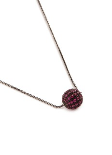 LC Collection Jewellery 'Disco Ball' ruby 18k gold pendant necklace