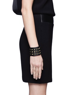 VALENTINO Rockstud wide leather bracelet