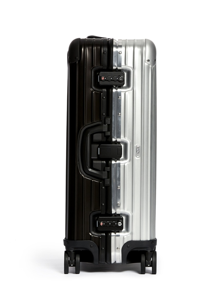 rimowa topas stealth special multiwheel two tone black silver 64 litre multi colour. Black Bedroom Furniture Sets. Home Design Ideas