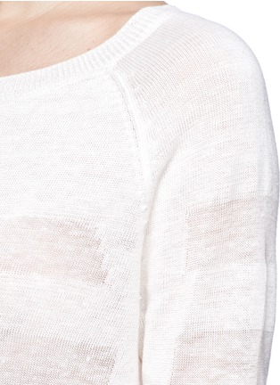 Detail View - Click To Enlarge - Vince - Shadow stripe intarsia sweater