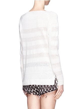 Back View - Click To Enlarge - Vince - Shadow stripe intarsia sweater