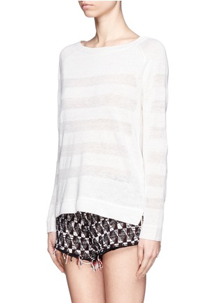 Front View - Click To Enlarge - Vince - Shadow stripe intarsia sweater