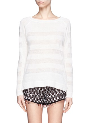 Main View - Click To Enlarge - Vince - Shadow stripe intarsia sweater