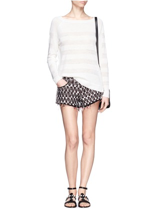 Figure View - Click To Enlarge - Vince - Shadow stripe intarsia sweater