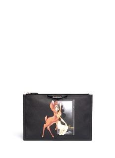 GIVENCHY'Antigona' large Bambi print zip pouch