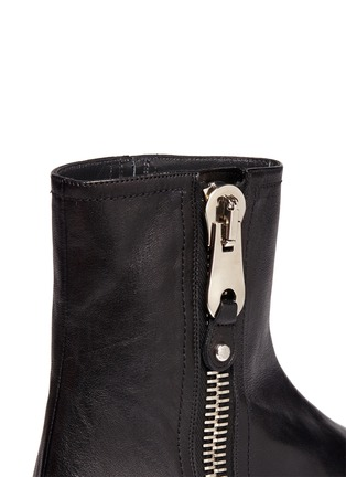 Detail View - Click To Enlarge - Stuart Weitzman - 'Winzipper' leather ankle boots