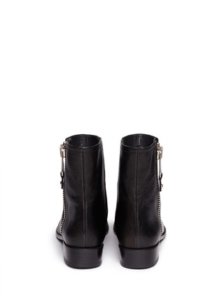 Back View - Click To Enlarge - Stuart Weitzman - 'Winzipper' leather ankle boots