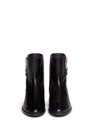 Figure View - Click To Enlarge - Stuart Weitzman - 'Winzipper' leather ankle boots