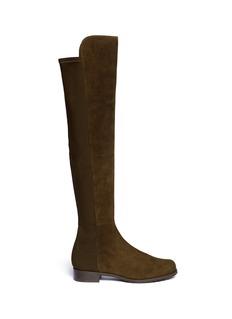 STUART WEITZMAN'5050' elastic back suede boots
