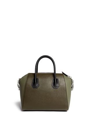 Back View - Click To Enlarge - Givenchy - 'Antigona' small colourblock leather bag