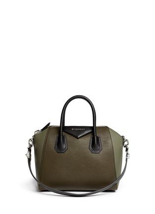 Main View - Click To Enlarge - Givenchy - 'Antigona' small colourblock leather bag