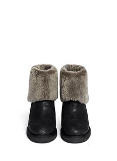 ASH'Yorki' shearling wedge boots