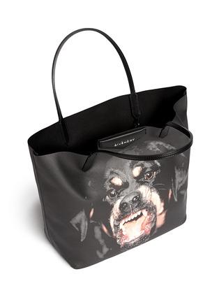 Detail View - Click To Enlarge - Givenchy - 'Antigona' medium Rottweiler print tote