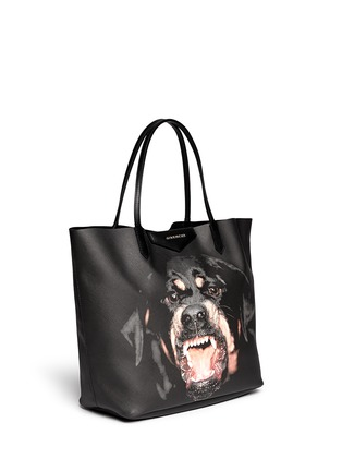 Front View - Click To Enlarge - Givenchy - 'Antigona' medium Rottweiler print tote