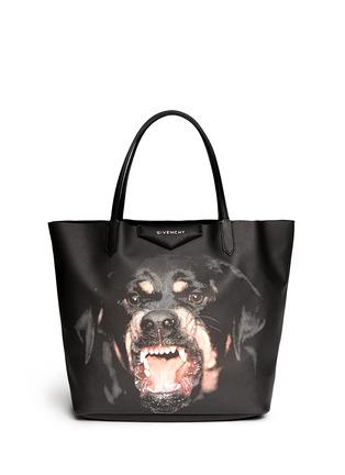 Main View - Click To Enlarge - Givenchy - 'Antigona' medium Rottweiler print tote