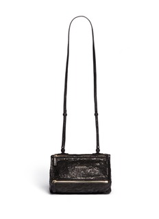 GIVENCHY 'Pandora' small crumpled leather bag