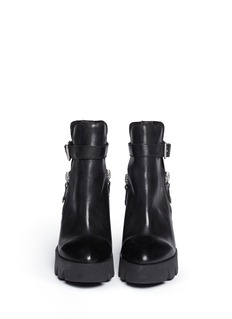 ASH 'Ricky' leather platform wedge boots