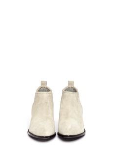 ALEXANDER WANG 'Kori' cut-out heel suede Chelsea boots
