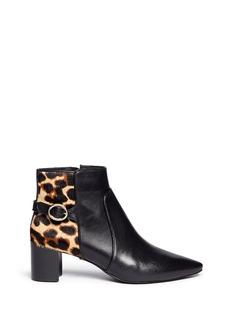 DIANE VON FURSTENBERGFatima leopard print calf hair leather boots