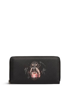 GIVENCHY Rottweiler print continental wallet