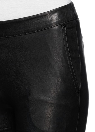 Detail View - Click To Enlarge - Elizabeth and James - 'Nanda Moto' lamb leather skinny pants