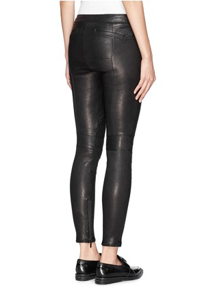 Back View - Click To Enlarge - Elizabeth and James - 'Nanda Moto' lamb leather skinny pants
