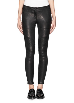 Main View - Click To Enlarge - Elizabeth and James - 'Nanda Moto' lamb leather skinny pants