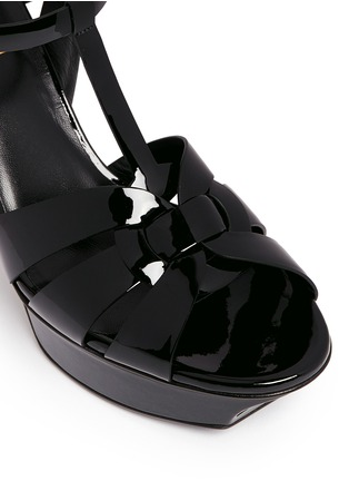 Detail View - Click To Enlarge - Saint Laurent - 'Classic Tribute' patent leather sandals