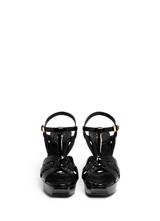 Front View - Click To Enlarge - Saint Laurent - 'Classic Tribute' patent leather sandals