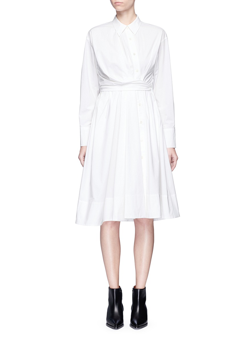 Twist front cotton poplin shirt dress by Emilio Pucci