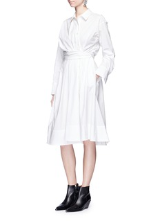 Emilio Pucci Twist front cotton poplin shirt dress