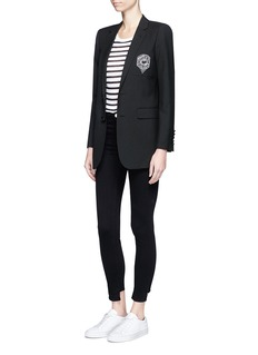 Saint LaurentCollege badge wool gabardine suiting jacket