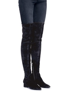Sigerson Morrison 'Zetan' stretch suede thigh high boots