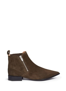 Sigerson Morrison 'Bambie' octagon heel suede Chelsea boots