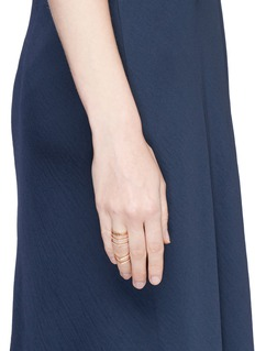 REPOSSI'Antifer' diamond pavé 18k rose gold six row linked ring