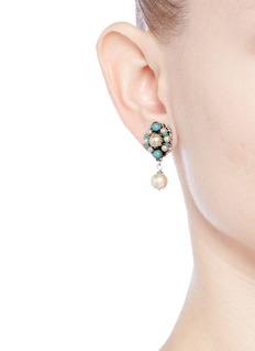 Miriam HaskellGlass pearl drop earrings