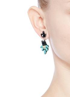 Miriam HaskellSwarovski crystal glass pearl drop earrings