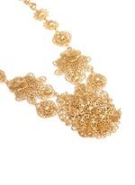 Filigree flower statement necklace