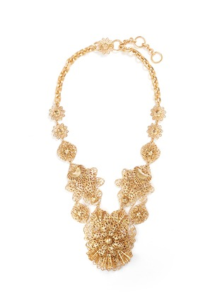 Main View - Click To Enlarge - Miriam Haskell - Filigree flower statement necklace