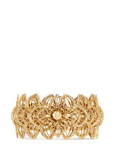 Miriam Haskell Layered filigree flower cuff