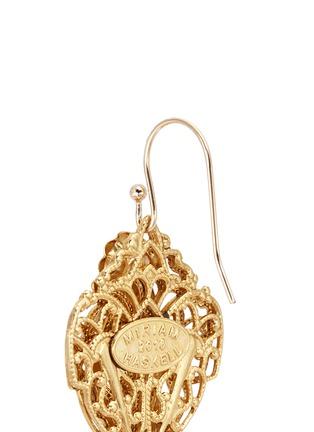 Detail View - Click To Enlarge - Miriam Haskell - Filigree teardrop leaf drop earrings