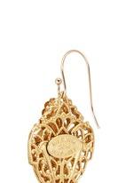 Filigree teardrop leaf drop earrings