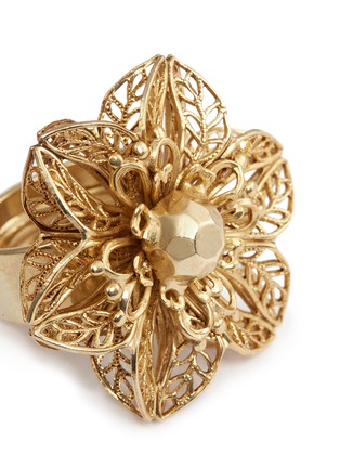 Detail View - Click To Enlarge - Miriam Haskell - Stud filigree floral ring